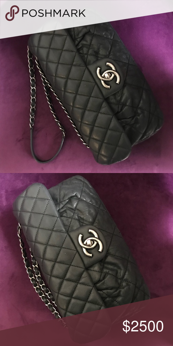 279be262bc9f66 CLASSIC CHANEL Flap & Ruching BLACK BAG A CLASSIC CHANEL FLAP with a  combination of ruching calf leather. Antique Ruthenium finished CHANEL logo  & hardware.