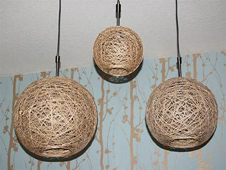 Home-Dzine - How to make a lampshade using string or twine