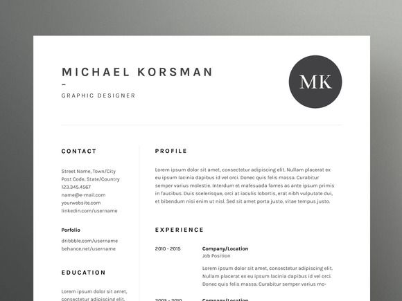 Michael Korsman - Resume\/CV Template by Worn Out Media Co on - skills for a resume