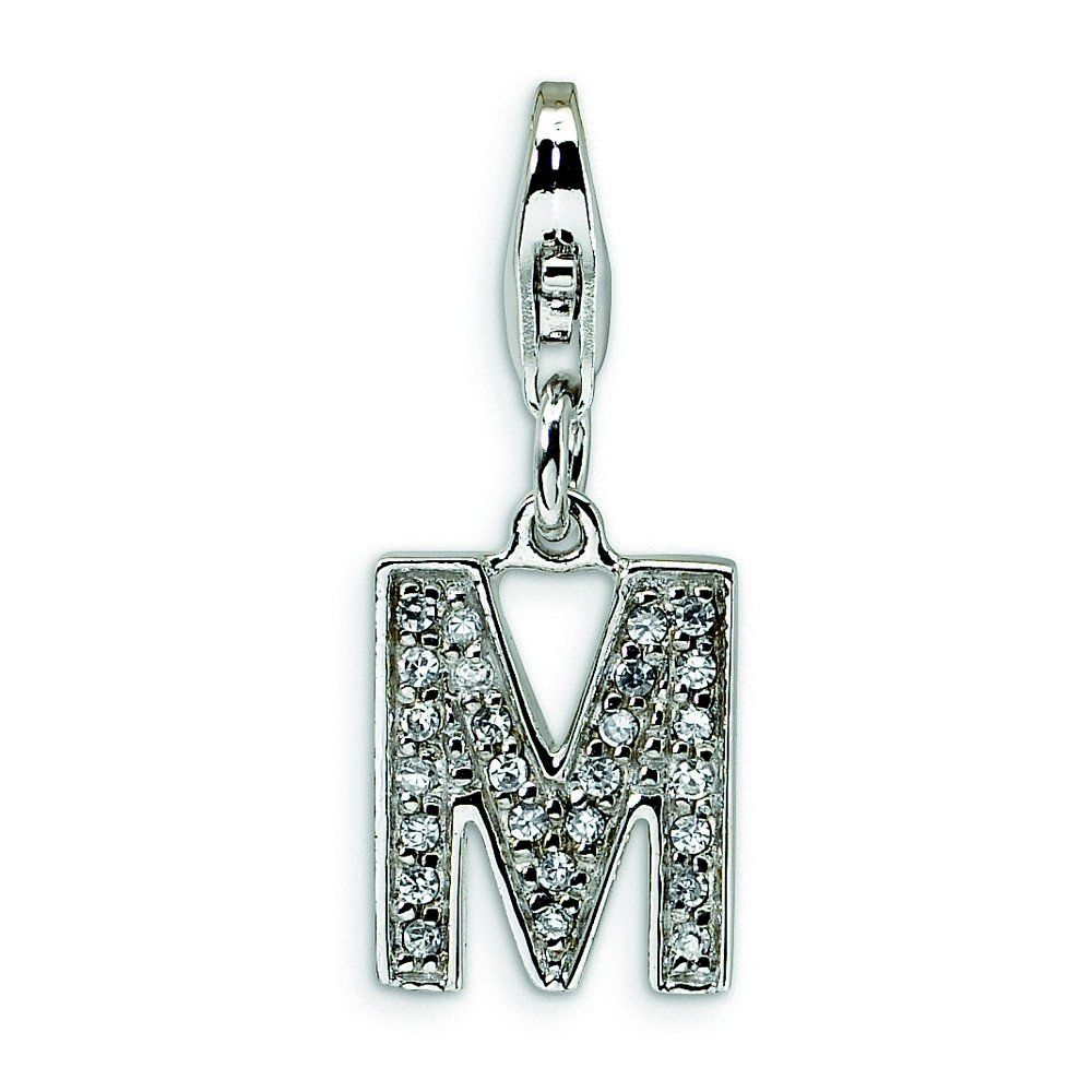 925 Sterling Silver Rhodium Plated CZ Cubic Zirconia Simulated Diamond Pendant Necklace Jewelry Gifts for Women
