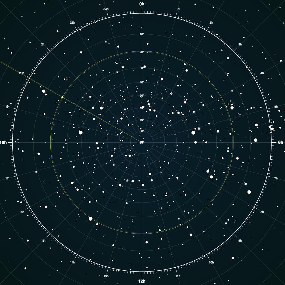 Interactive star map | DataViz | D3.js Demos | Map, Stars on