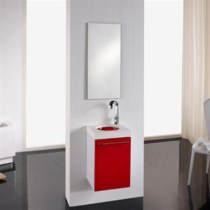 Lavabo Rojo Cristal.Pin En Muebles De Bano Pequenos