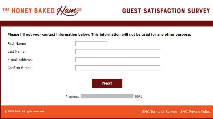 Honeybaked Guest Satisfaction Survey Win Free Validation Code Surveys Coding More Words