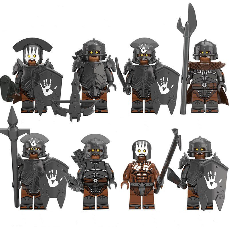 Uruk Hai Army Group Minifigures Lego Compatible The Lord Of The