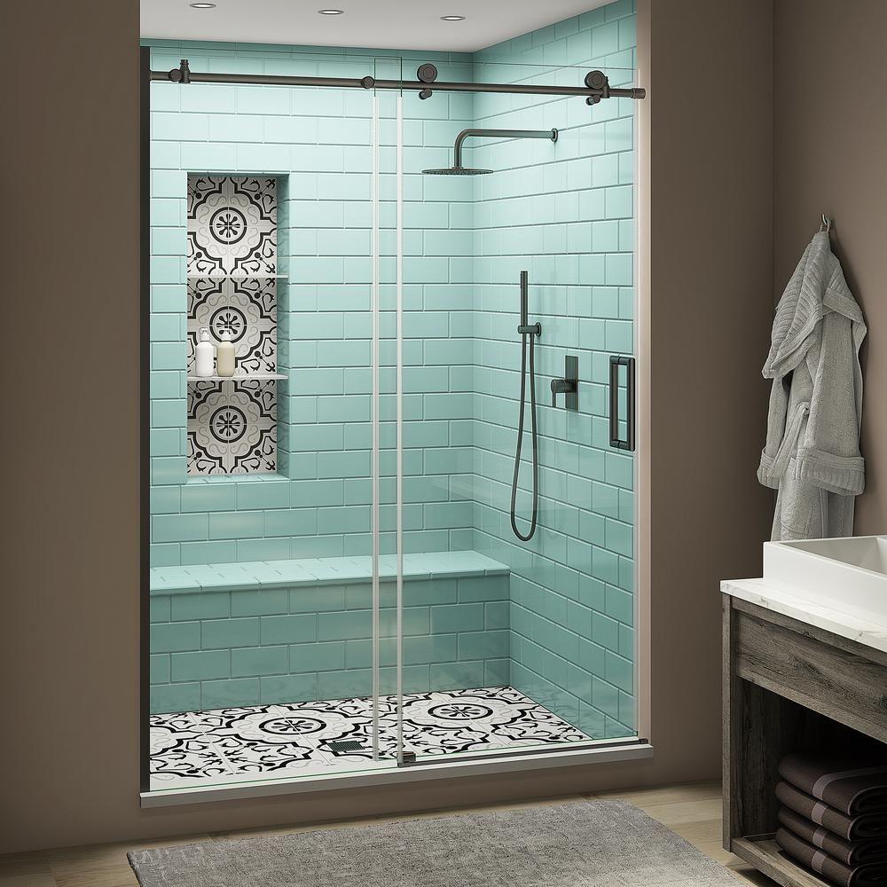 Aston Coraline Xl 52 56 In X 80 In Frameless Sliding Shower Door With Starcast In 2020 Bathroom Interior Design Frameless Sliding Shower Doors Sliding Shower Door