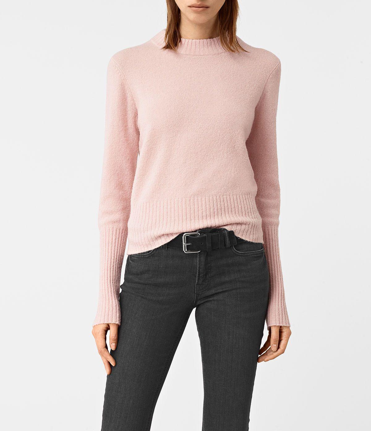 AllSaints New Arrivals: Womens Alpha Crew Neck Sweater | wear ...