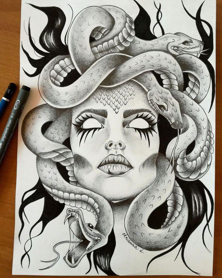 Résultat d'image pour tatuagem de medusa  #image #medusa #resultat #tatuagem #tattoodrawings