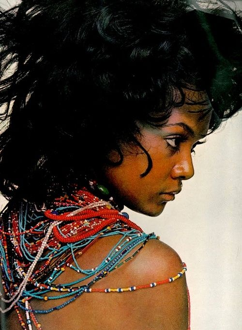 Tamara Dobson photographed by Gianni Penati for Vogue, 1970.