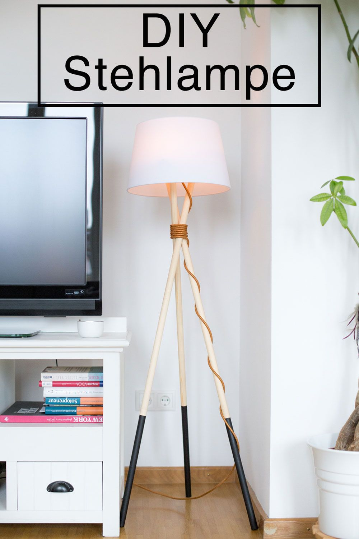 Diy Lampe Stehlampe Holz Stehlampe Und Stehlampe Selber Bauen