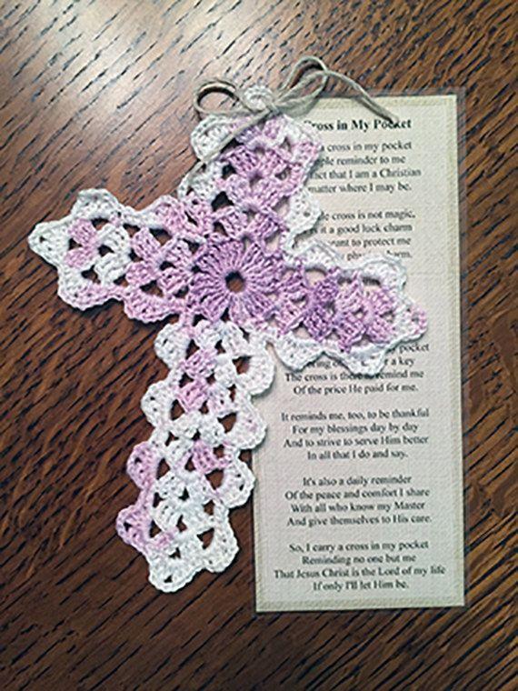 Crocheting Pattern For Gods Eye Cross Bookmark Crochet