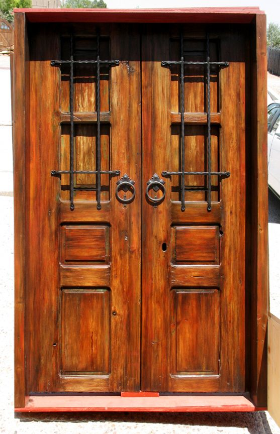 Garden Gate Featuring Antique Mexican Doors By La Puerta