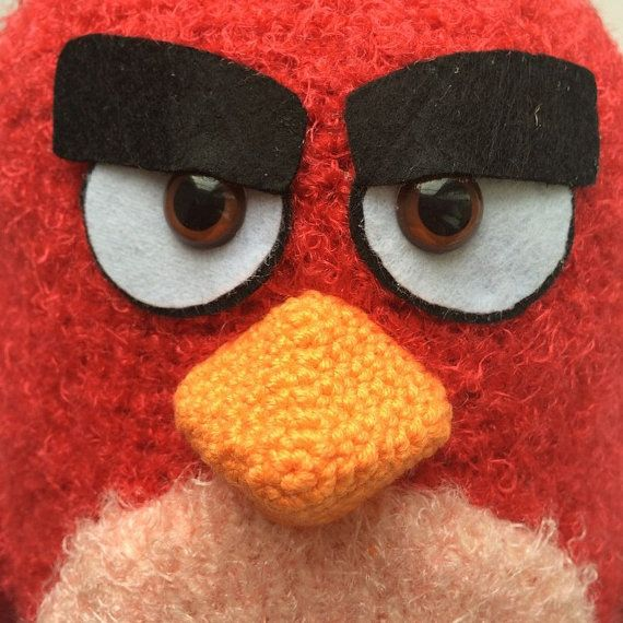 Red By Angry birds PDF CROCHET PATTERN Instant by Amigurushki ...