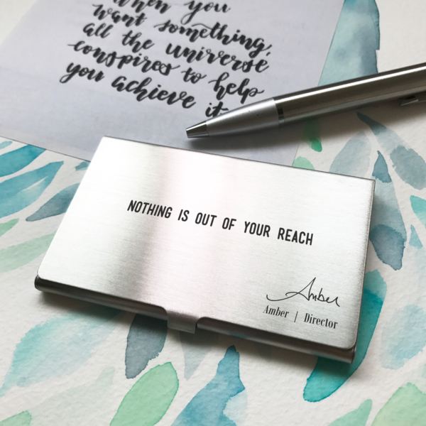 Unique Namecard Holder With Your Own