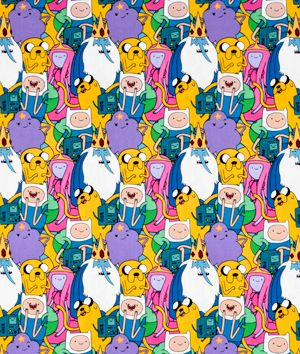 Adventure Time Springs Creative fat quarter cotton fabric finn and jake