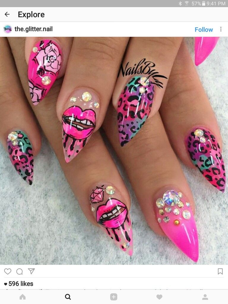 Pin by Nail Art Ideas on Lips & Kisses Nail Art Ideas | Pinterest ...
