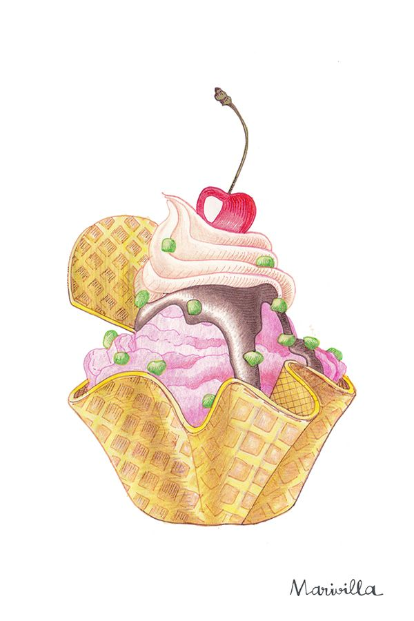 MARIVILLA _ on Behance   Cupcake Print. Сладости.   Pinterest ...