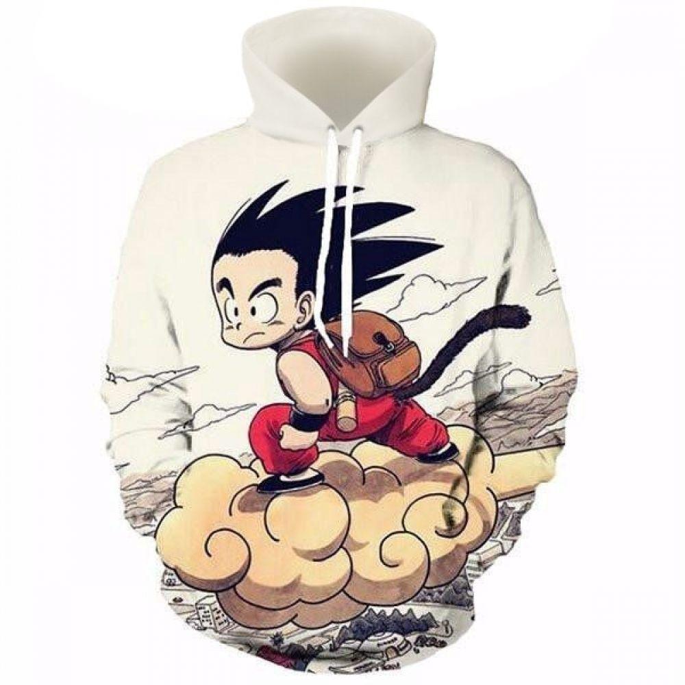 Goku Nimbus Cloud Hooded Sweatshirt Kid Goku Hoodies Printed Hoodies Sweatshirts