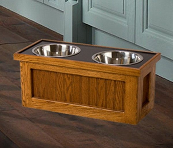 Amish Made #Elevated #Dog #Feeder With Storage