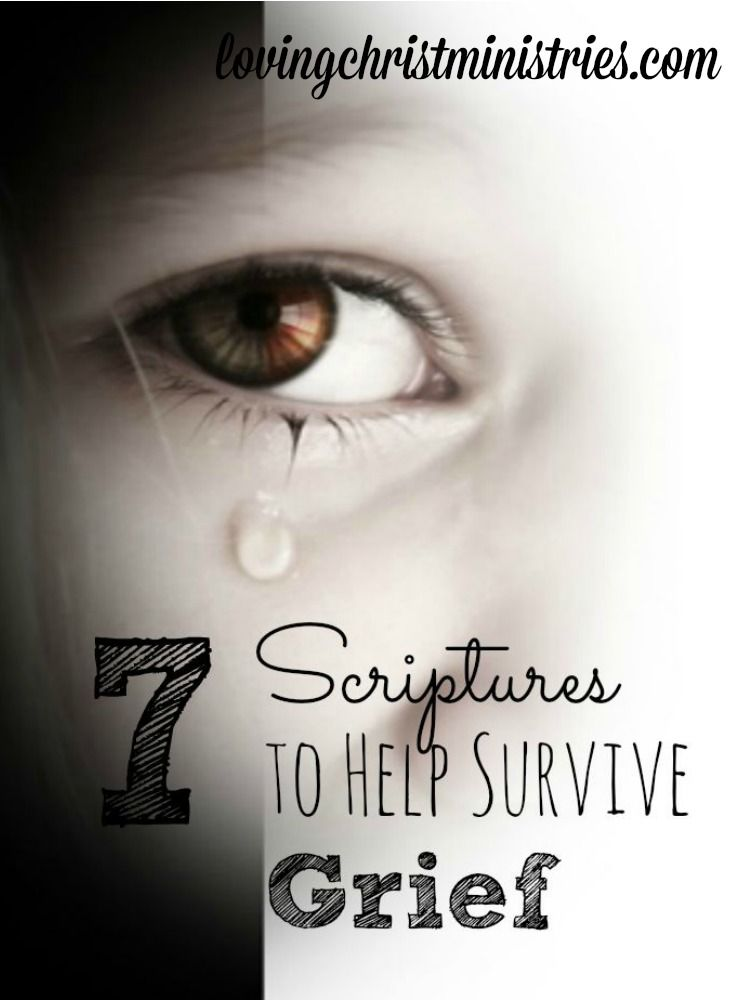 7 Scriptures to Help Survive Grief Grief scripture