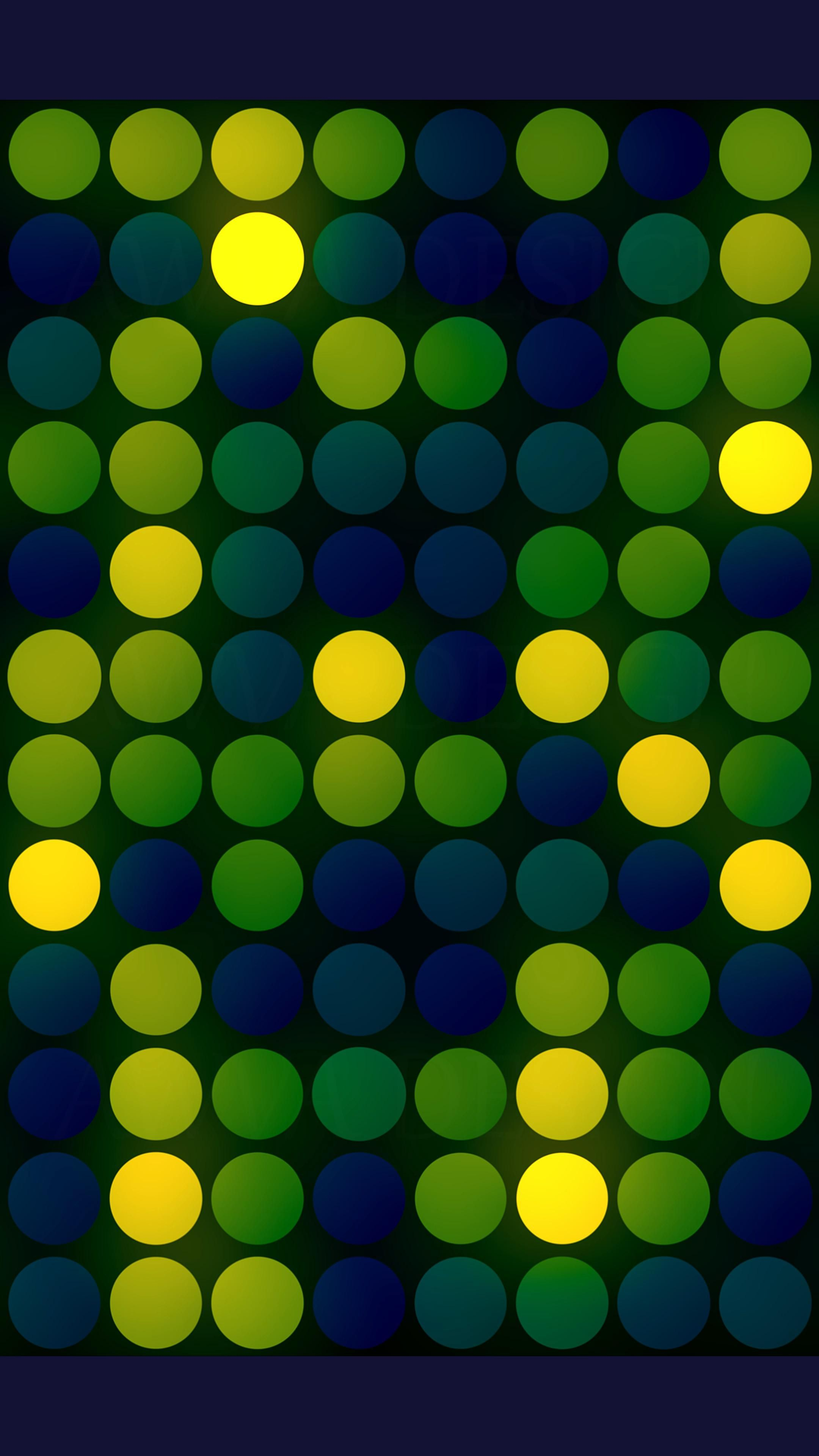 Seamless wallpaper with random glowing green-yellow rounds.