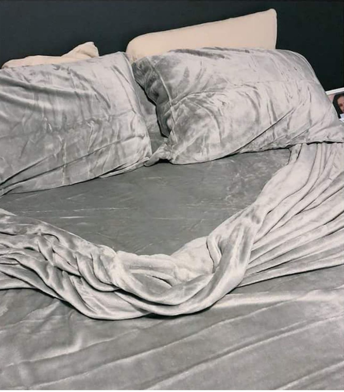 Grey Velvet Bed Set I Would Never Get Out My Bed Follow