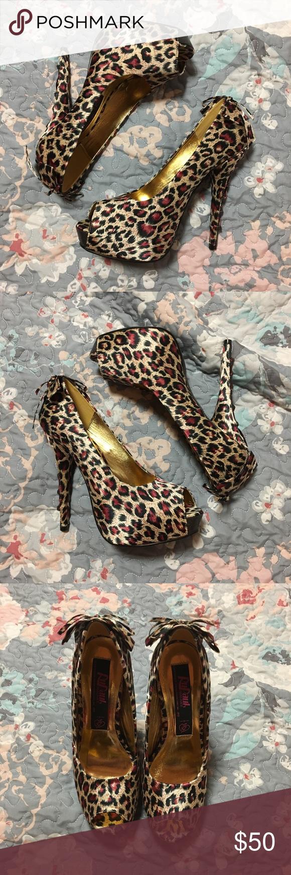 "afc6570198 RuPaul  Iron Fist Leopard Heels ""RuPaul"" peep toe heels by Iron Fist ..."