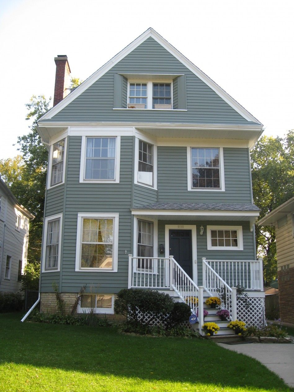 Pretty Green Gray Exterior Exterior Paint Colors For