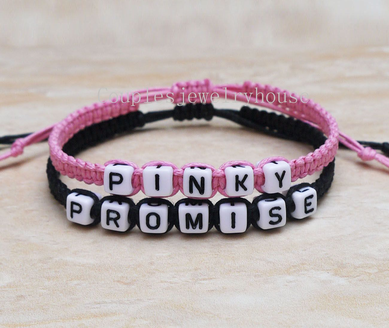 S Bracelet His Hers Pinky Promise Loves Personalized Gifts Bracelets Love