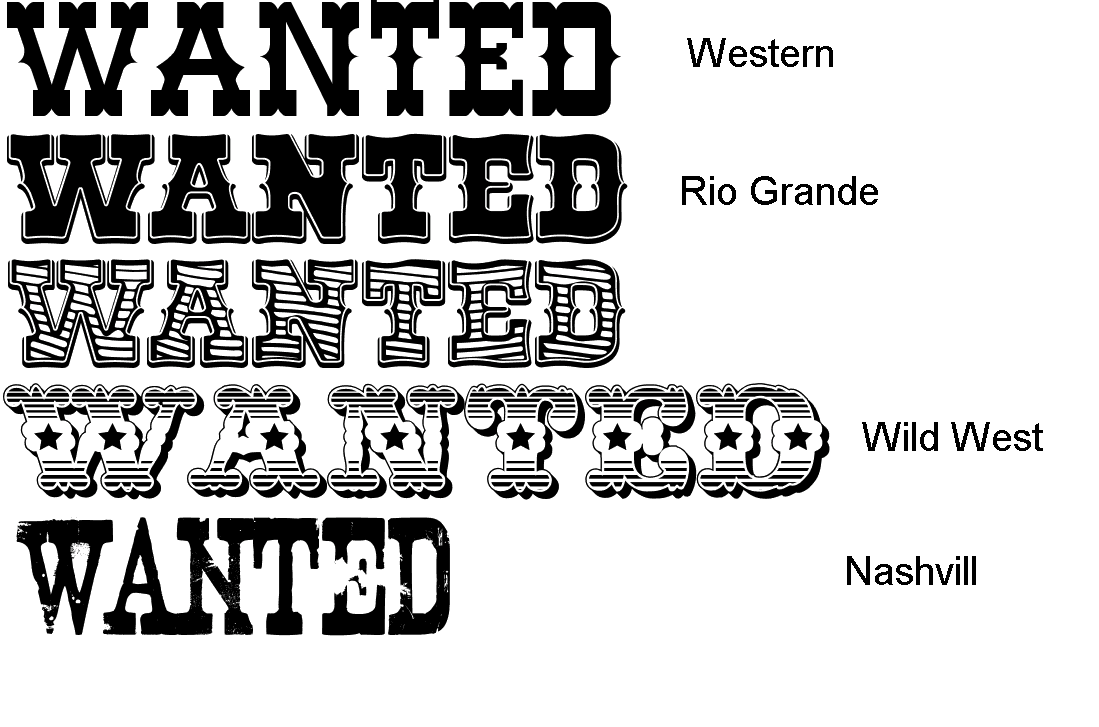 Old West Font Wanted
