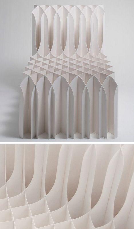 Folding paper chair koji sekita inspirational paper for Stuhl design kunstunterricht