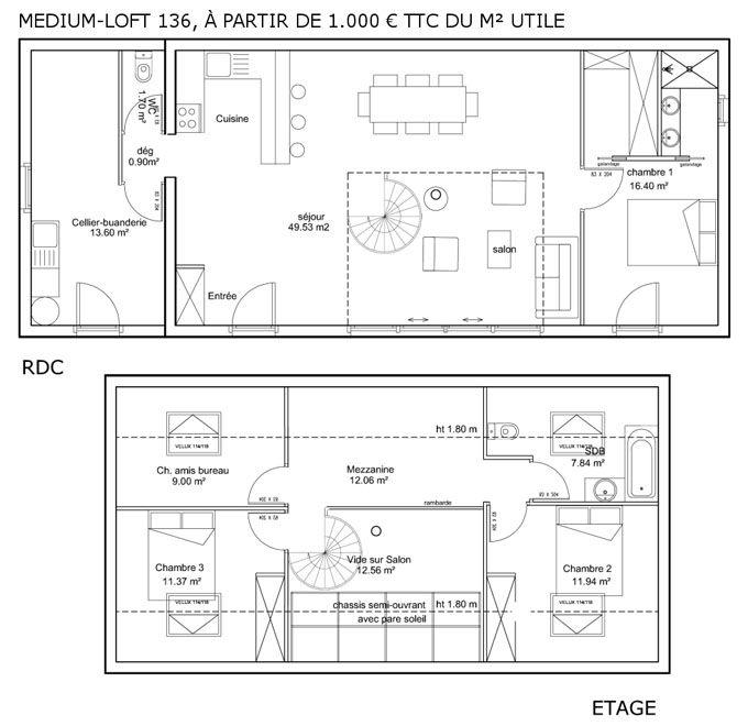 maison ecolo 136 m2    wwwecop-habitatfr plans-maison - Exemple Devis Construction Maison