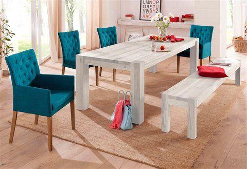Superb Home affaire Sitzbank Model mit Holzbeinen wildeiche white washed bestellen