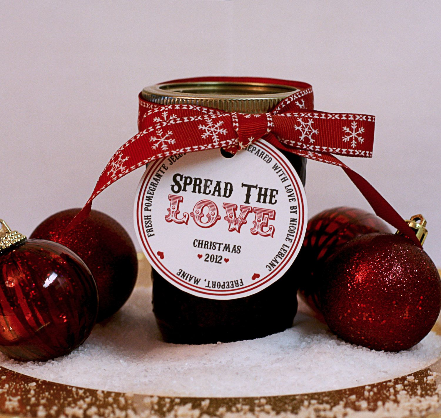 Holiday Jam Jar Label SPREAD THE LOVE by ConfettiPrintsShop ...