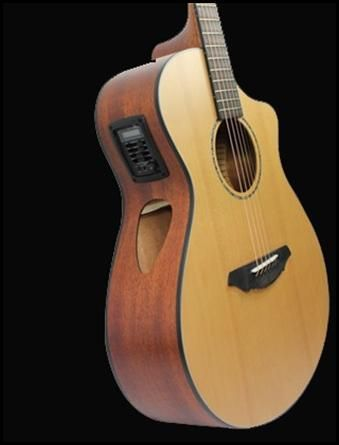The Breedlove Atlas Solo C350 Cre Acoustic Electric Guitar Amazing Sound With The Monitor Side Sound Hole Acoustic Electric Acoustic Electric Guitar Guitar