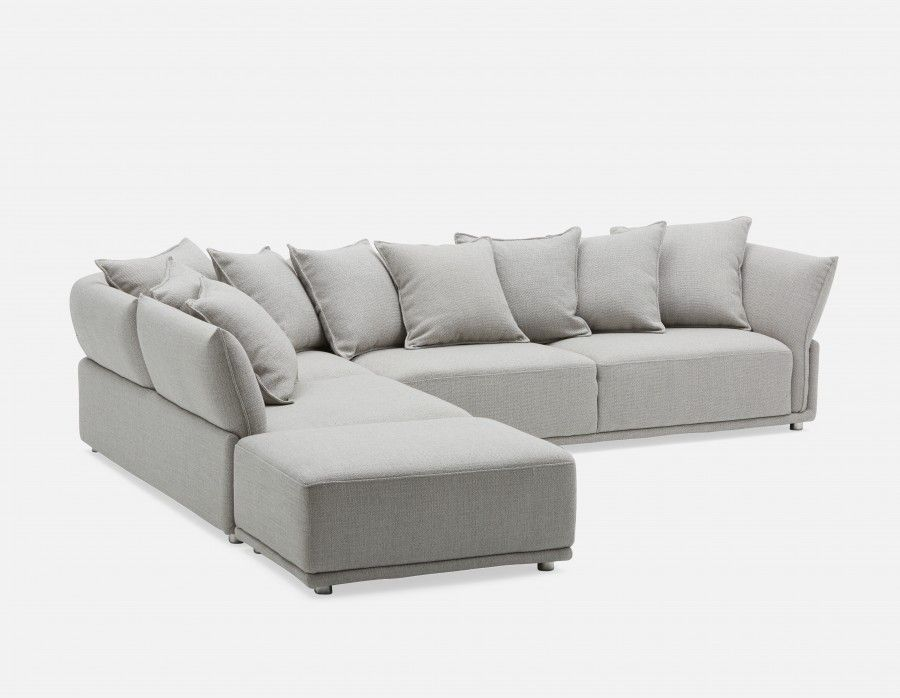 Colby Left Facing Sectional Sofa Grey Sectional Sofa Modern Sofa Sectional Modular Couch