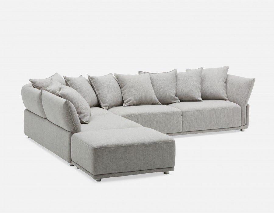 Colby Left Facing Sectional Sofa Grey Sectional Sofa Modern