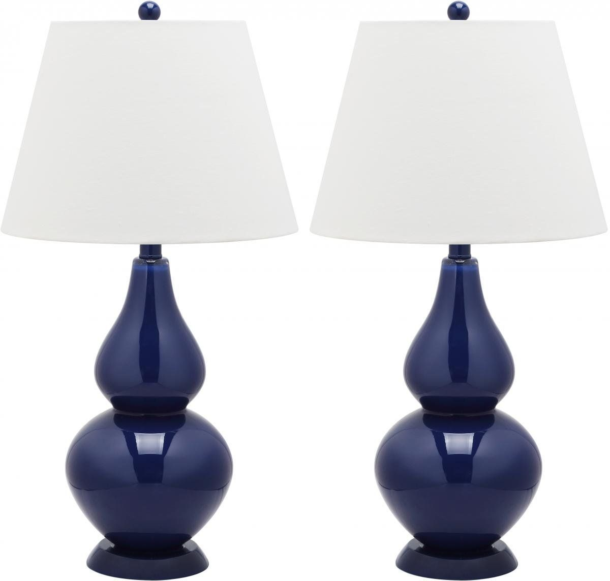 Safavieh Cybil Double Gourd Navy Table Lamps (Set Of   Overstock™ Shopping    Big Discounts On Safavieh Lamp Sets