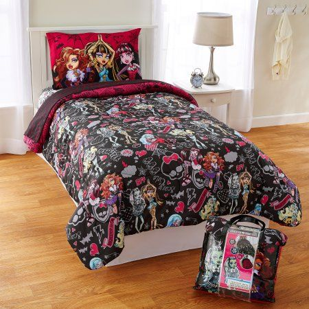 Monster Crew 4 Piece Twin Bed Set, Monster High Bedding Twin