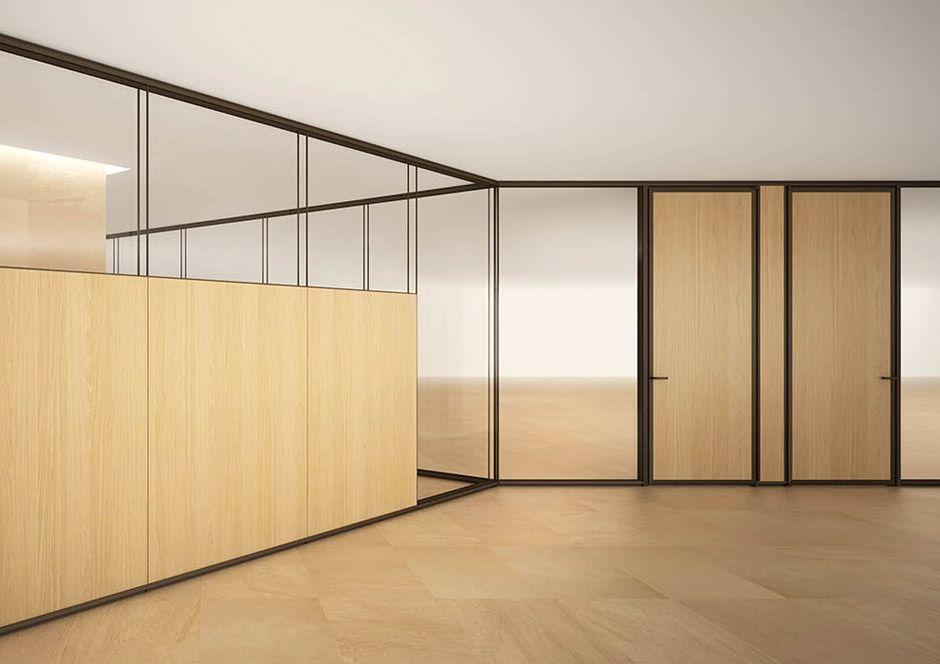 Evolvinwall ew1 vetro in leader arredo ufficio in vetro for Design d interni