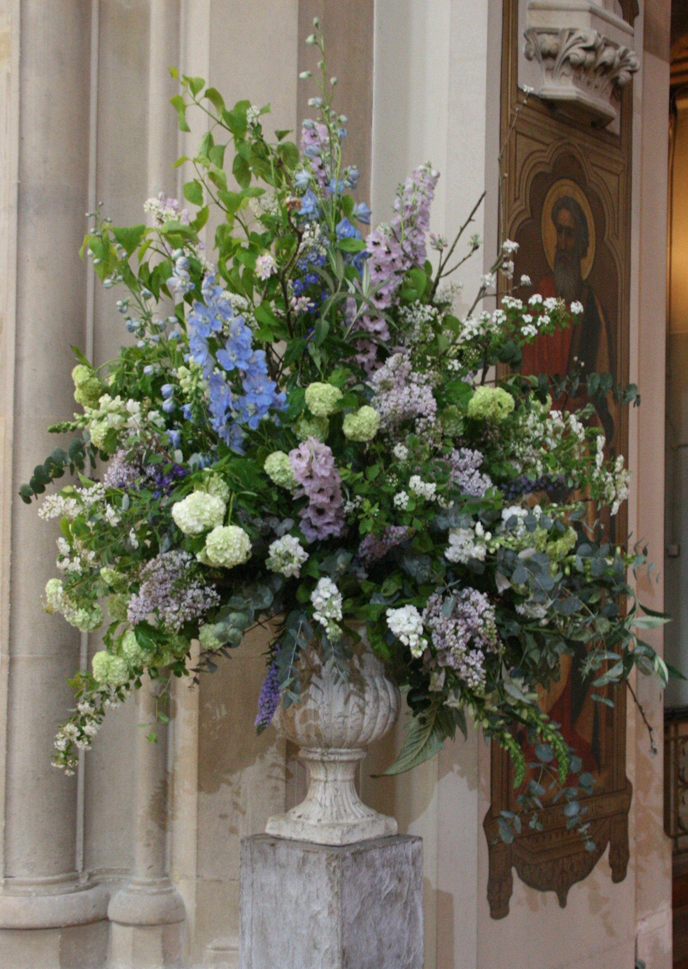 Large urn for church? Large flower arrangements, Large
