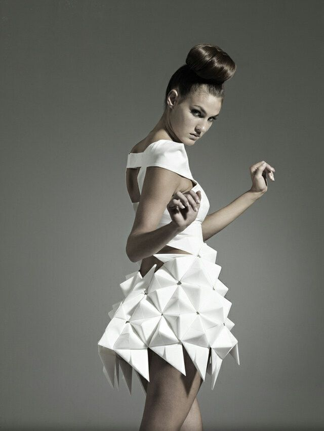 Paper Origami Dress..interesting, Intriguing And So