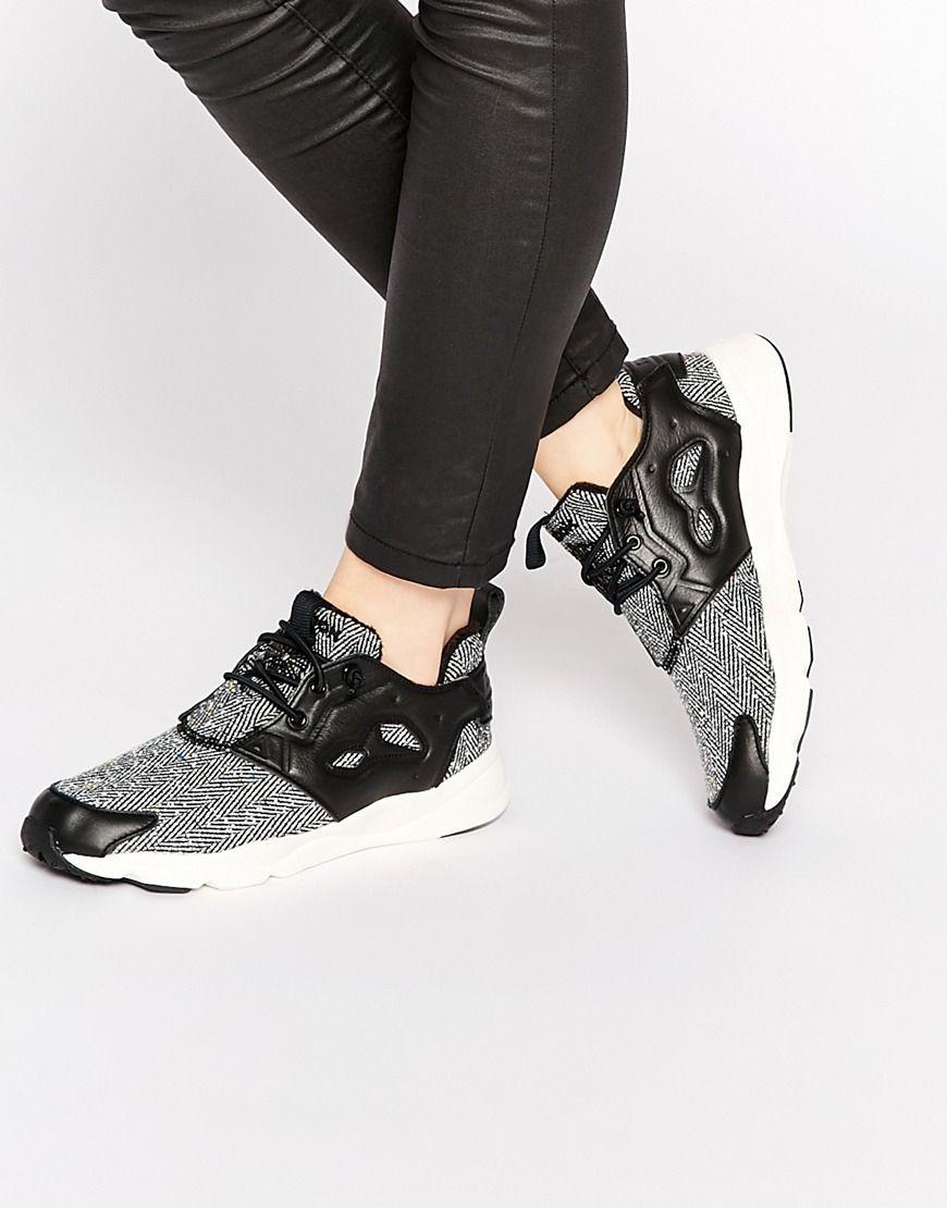 Image 1 of Reebok Furylite Vacation Herringbone Sneakers