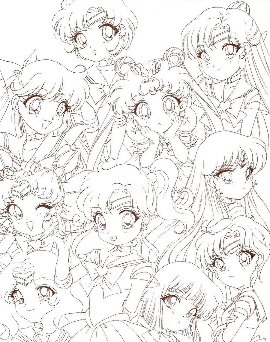 sailor moon chibis by rurutia8 deviantart com on deviantart chibi