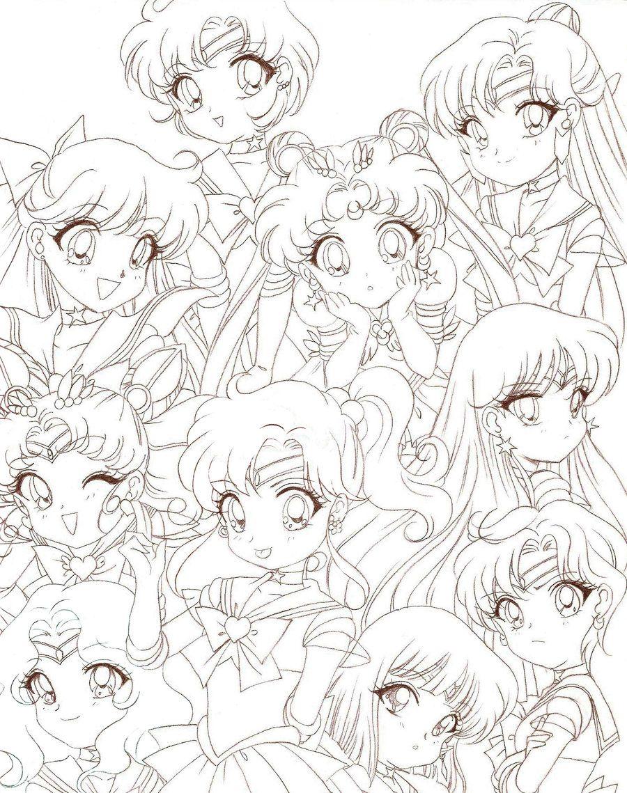 Sailor Moon Chibis by Rurutia8viantart on deviantART CHIBI VERSION
