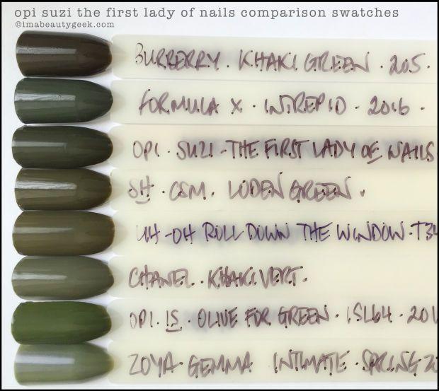 Opi Washington Dc 2016 Complete Manigeek Guide Olive Nails Work Nails Green Nail Polish