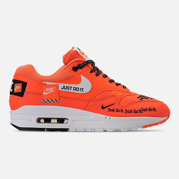 7c69708766e6 Right view of Women s Nike Air Max 1 Lux Casual Shoes in Total Orange White  Black