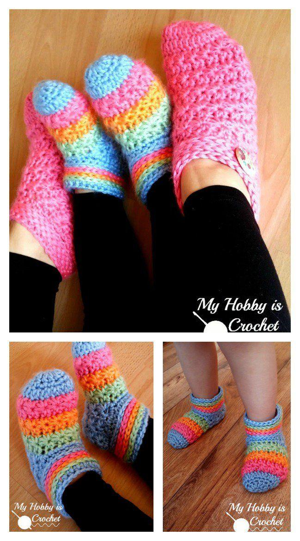 Starlight Slippers Free Crochet Pattern Crochet Pinterest Free