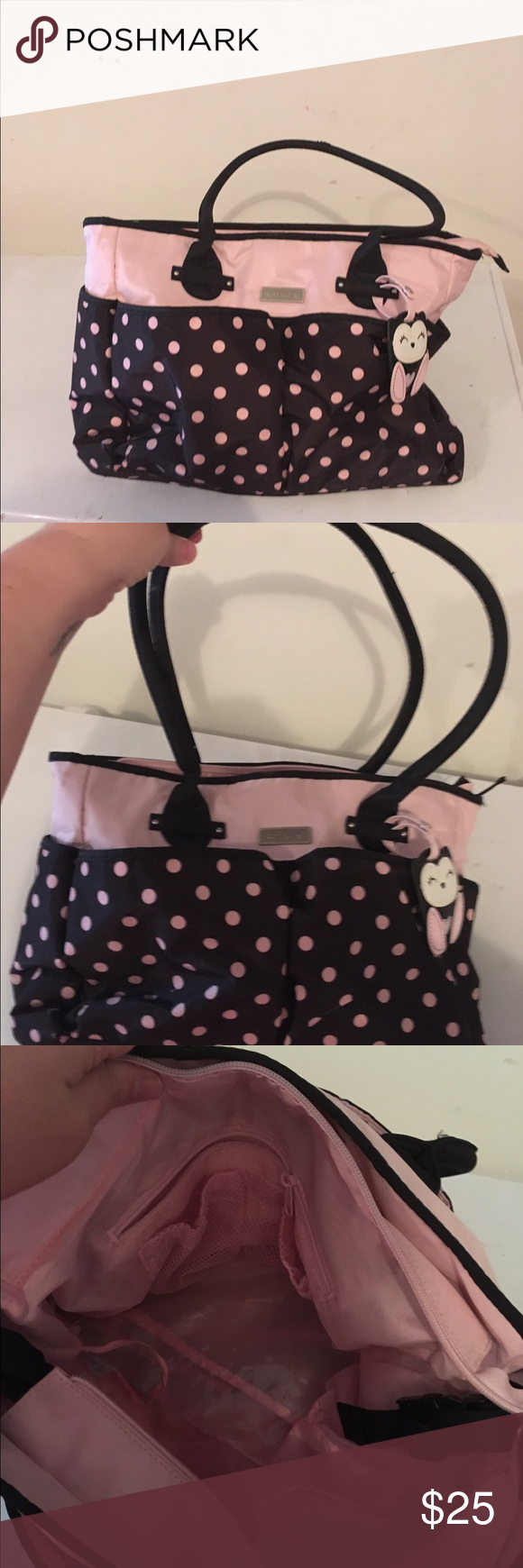 Carters owl diaper bag In great condition . Perfect size to fit everything in . Pink and black Carter's Bags Baby Bags