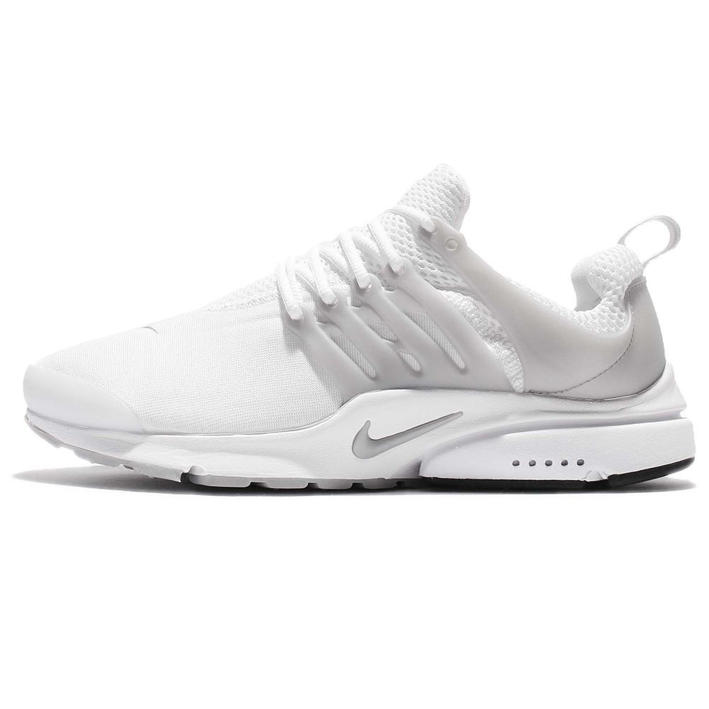 Nike Air Presto Essential White Silver Men Shoes Slip On