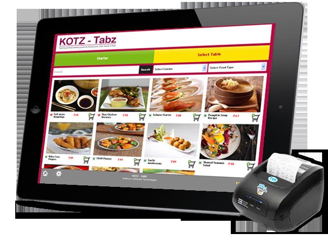 Tablet Based Food Ordering System For Restaurants Cafe